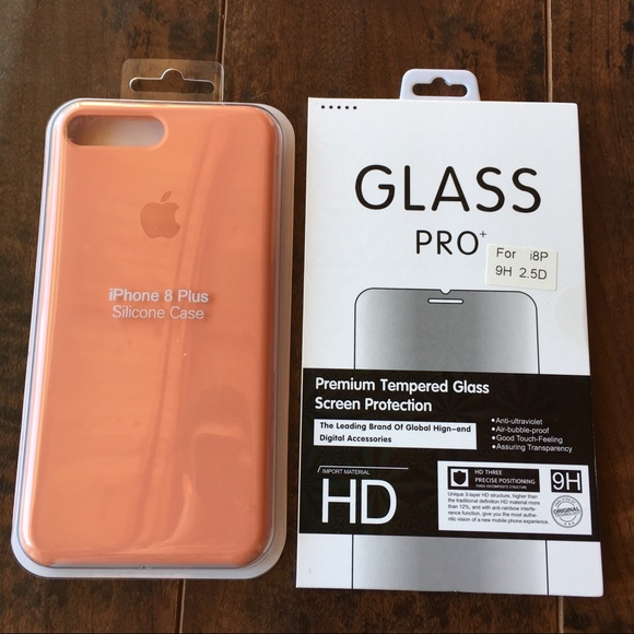info for 7b92f 2f464 Peach Case and glass for iPhone 7 Plus and 8 Plus NWT